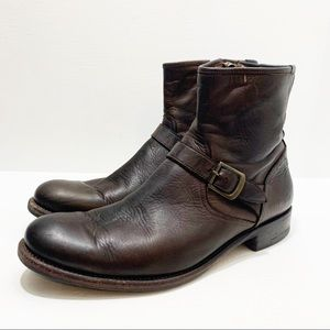 PAUL SMITH   Red Ear Dip Dyed Side Zip Boot